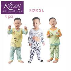 Kazel Piyama Boy Set - Baju Tidur Anak Setelan Isi 3 pcs ( XL )