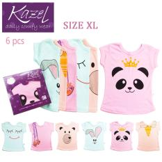 Kazel Tshirt Girl Panda Edition isi 6 pcs - XL