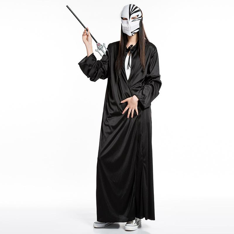 Kematian hitam Halloween pesta kostum alat peraga Jubah