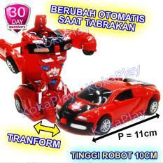 Rp 57.900 KokaPlay Transformation King Burst Rider Transformers Bumblebee Robocar Pullback Mainan Anak Edukasi Mobil Robot