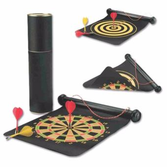LaCarLa Double Sided Hanging Magnetic Dart Board Set Game 15 Inch with 6 Magnetic Arrow - Hitam - 4