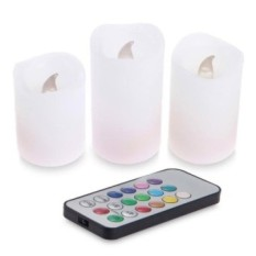LED Candle Light Lamp + IR Remote Controller (3pcs) A732 - intl