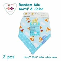 Libby Slaber Bayi 2 Scafr Bibs Baby Boy - Perlengkapan Bayi Laki Laki Celemek 2 Pcs