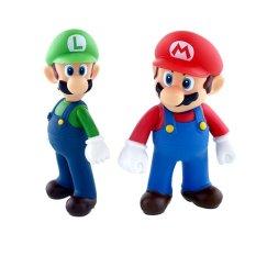 Lot 2 Nintendo New Super Mario Bros Brothers Luigi Toy PVC Action Figure Gifts - intl