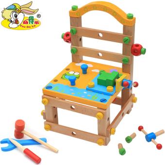 Luban kayu pendidikan anak usia dini sekrup mainan kursi kursi kursi kursi