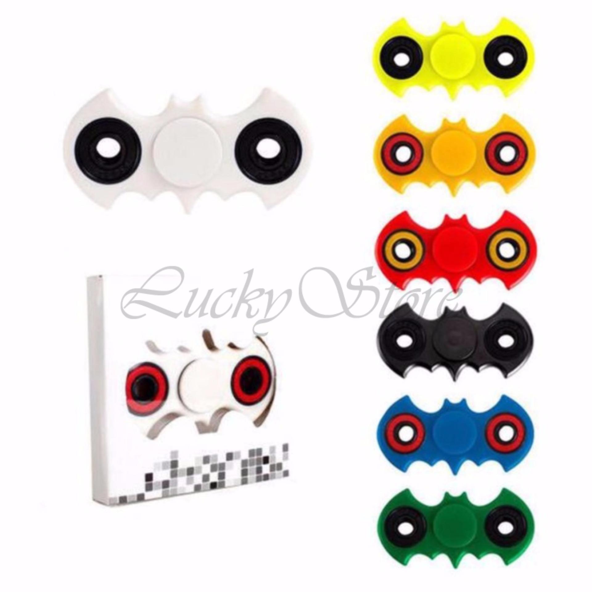 Lucky Fidget Spinner Batm4n Kelelawar Hand Toys Mainan EDC Ceramic Ball Focus Games - Merah ...
