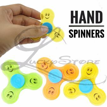 Lucky Fidget Spinner Hand Spinner Spiner SMILE Hand Toys Focus Games / Mainan Spiner Tangan Penghilang Kebiasan Buruk - KUNING - 1 Pcs - 2