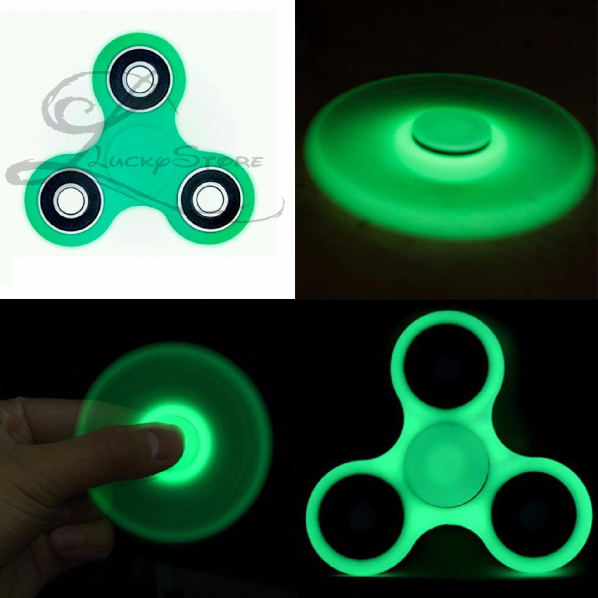 Lucky GLOW IN THE DARK Fidget Spinner Hand Spinner Hand Toys Focus Games / Mainan Spinner