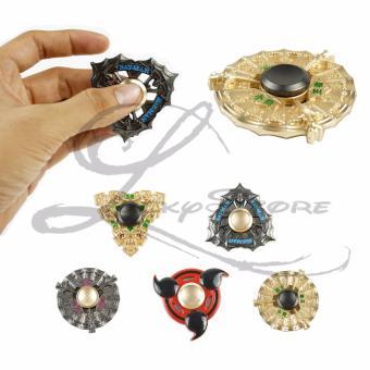 ... Harga Penawaran Lucky PREMIUM Fidget Spinner Hand Spiner Naruto Bat Hand Held Fan Shield Gold Tameng