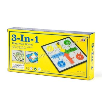 Jual Lumi Toys 3 In 1 Magnetic Board Ludo Chinese Checkers Snakes Ladders Murah