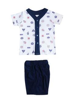 MacBear Baju Setelan Anak Baseball Super Dad Navy Blue Size 1