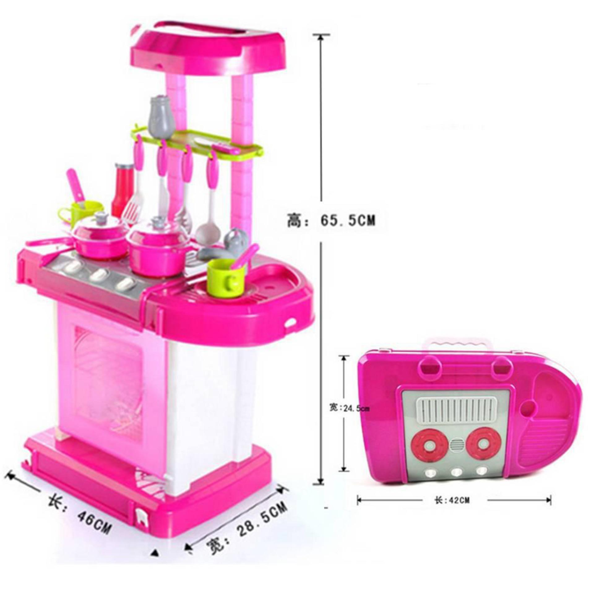 Mainan Anak Masak-Masakan Kitchen Set Pink ...