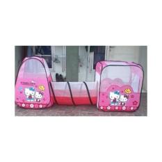 Mainan Anak Perempuan Tenda Terowongan Motif Hello Kitty