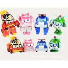 Mainan Anak Robocar Poli 1 Set (Isi 4) Robot Mobil Hadiah Ulang Tahun - Fzrspl