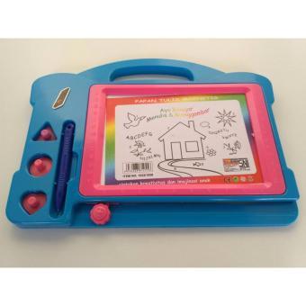 Mainan Papan tulis magnet / white board (merah/kuning/biru/hijau)