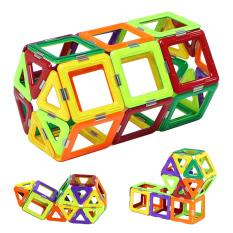 Mainan Pendidikan Anak Magformers 30 Buah Magnetik 3D DIY Blok Bangunan