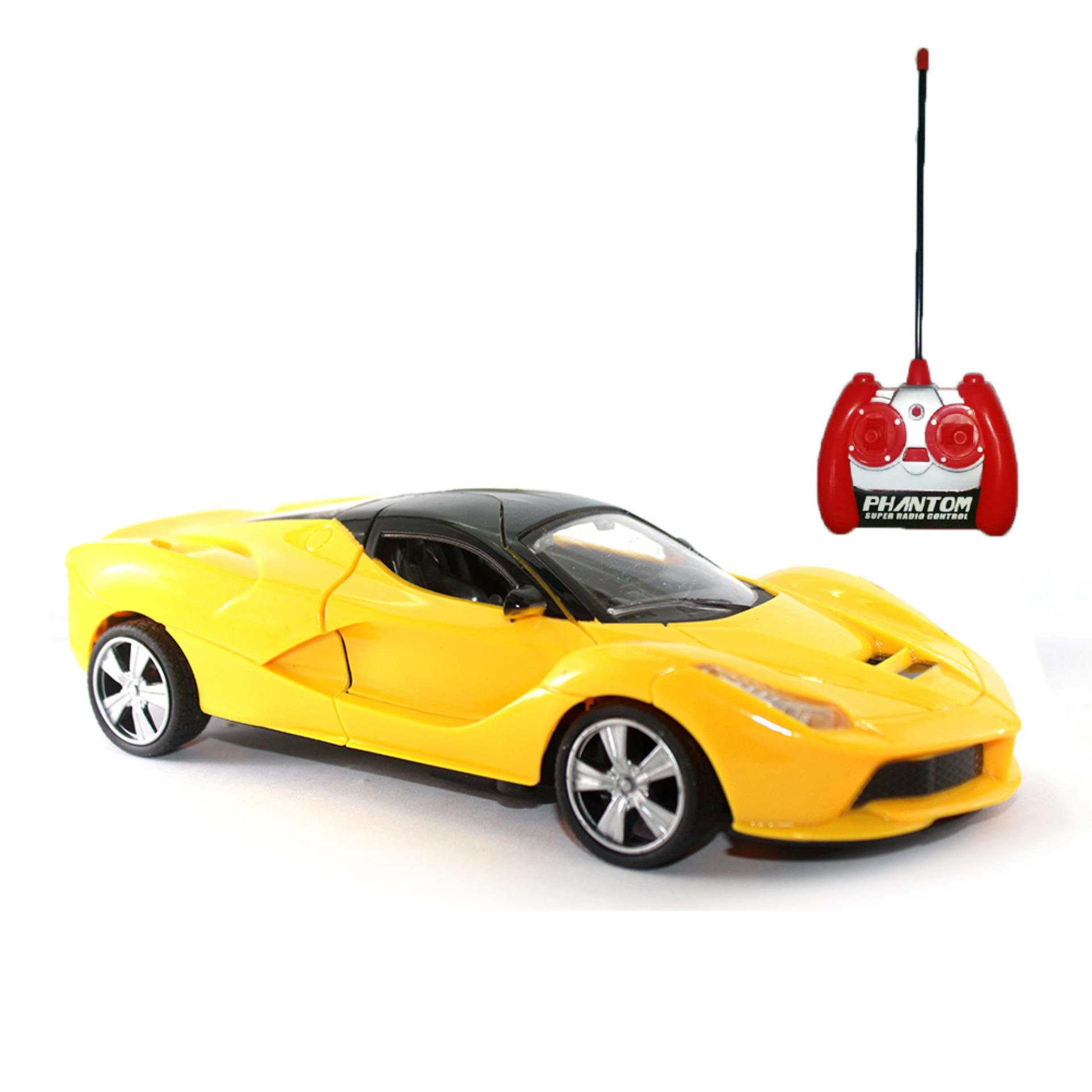... Mainan Remote Control Ferrari Supercar - Yellow ...