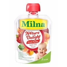 Milna Nature Delight Apple & Peach 80gr