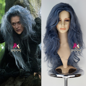 DISKON Miss U Hair Angkatan Laut Warna Biru Penyihir Halloween Halloween Rambut Palsu MURAH