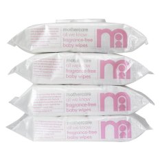 Mothercare All We Know Fragrance Baby Wipes - 4 x 72 Wipes