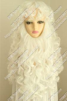 DISKON Murni putih Halloween pertunjukan pesta wig jenggot TERPOPULER