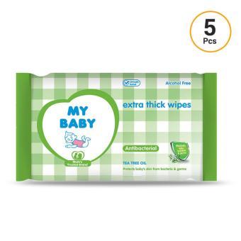 My Baby Antibacterial Tissue Basah [10 sheets/5 pcs]