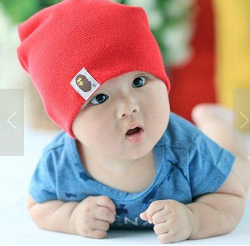 New Adapula Bayi Balita Bayi Perempuan Katun Lembut Topi Anak Lucu Topi Beanie .