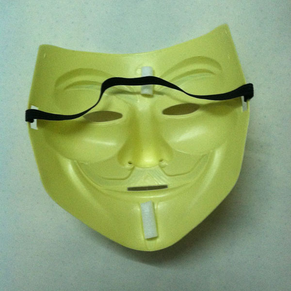 ... Ormano Topeng Vendetta Mask Occupy Anonymous Cosplay Kuning