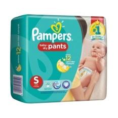 Pampers Baby Dry Pants Popok Bayi [Size S/22 Pcs]