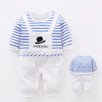 Pangeran musim semi dan musim gugur pria dan wanita bayi bayi katun lengan panjang sepotong baju