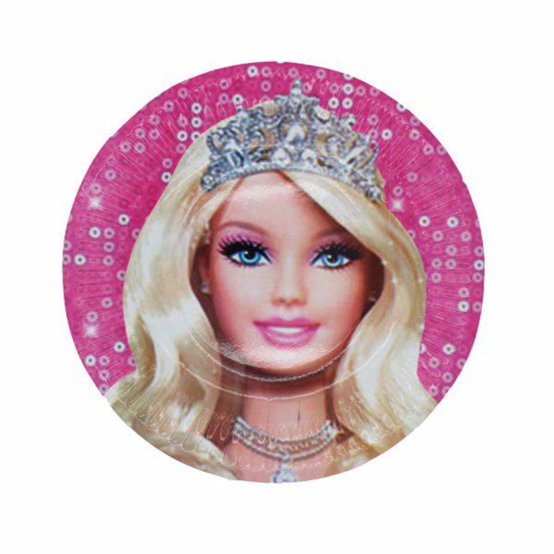 Bandingkan Toko Piring Kertas Sedang Kartun Barbie Prg Mc10s