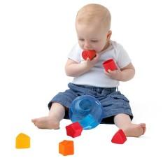 Playgro Dikirim Gaole Puzzle Mainan Anak Usia Dini Pencerahan Building Blocks Gambar Bentuk Pencocokan Kecil Nakal