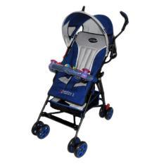 Pliko Adventure 2 PK-108 - Buggy Baby Stroller / Kereta Dorong Bayi - Biru Navy
