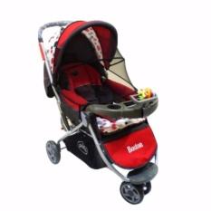 Pliko Boston PK-338 - Baby Stroller / Kereta Dorong Bayi 3 in 1 - Merah