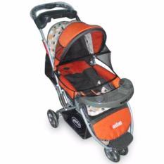 Pliko Boston PK-338 - Baby Stroller / Kereta Dorong Bayi 3 in 1 - Oranye