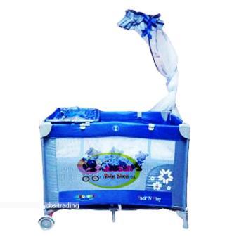 harga Pliko Creative Baby Rocking Playard 808 - Box Bayi - Ranjang Bayi - Biru Lazada.co.id