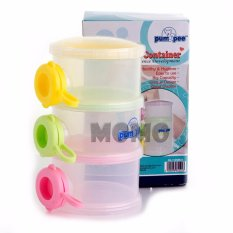Pumpee Stylist Milk Container 3 Layer - Tempat Susu Formula