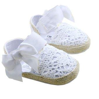 Putih Panas Balita Bayi Sepatu Bayi Sol Lembut Slip Pada Laki-LakiDan Perempuan Rumbai Kembang