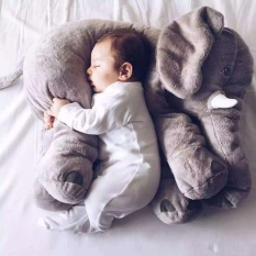 qoovan Large Baby Kids Toddler Stuffed Elephant Plush Pillow Cool Big Cushion Soft Nursery Toy Doll Best Girls Children Gifts,Gray - intl