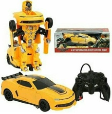 Remote Control Mobil Trransformers Bumble Bee 8+ -Kuning