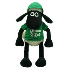 Shaun The Sheep - Boneka Shaun dengan Hoody - Hijau