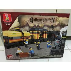 Sluban Brick Railway Station M38-B0233 Special Train Mainan Lego Murah