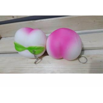 Jual Squishy Jumbo Peach White Pink 12 Cm Murah