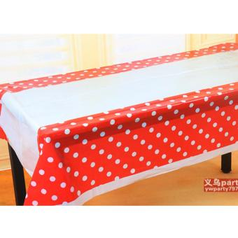 Table Cover / Taplak Meja Merah Polkadot