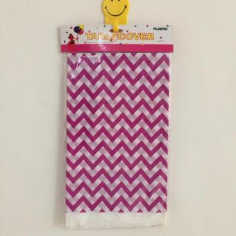 Table Cover / Taplak Meja Plastik Ungu Chevron