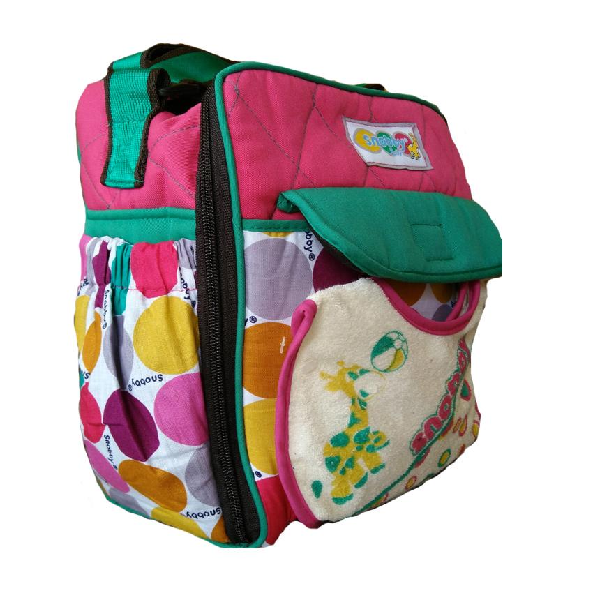 Diaper Bag Source Tas Bayi Snobby Kecil Marbles Pink TPT 1573 .