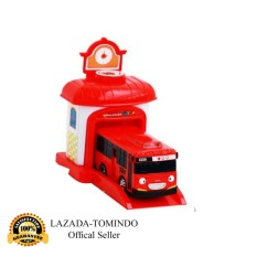 Tomindo Toys Tayo The Little Bus + Garasi - Gani / MERAH - 333-001A (Pull Back Car Play Set Mainan Anak Mobil Bis Karakter Tayo)