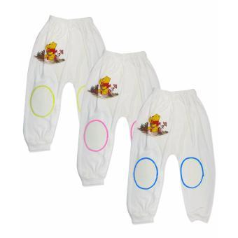 Detail Gambar Ummi Baby Celana Panjang Bayi Putih M-L-XL Isi 3 Terbaru
