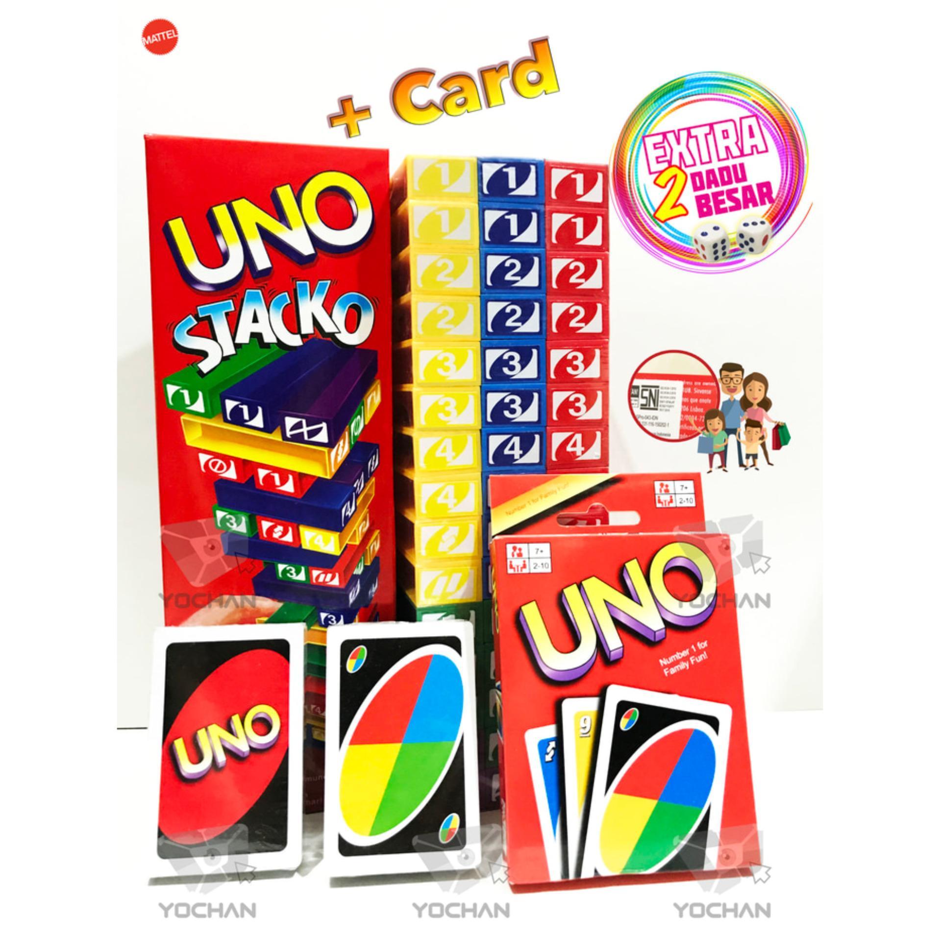 ... UNO STACKO + UNO Card + 2 Dices !