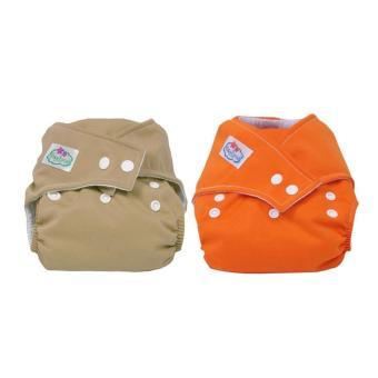 YBC 2 buah popok kain yang dapat dicuci dapat digunakan kembali bayi popok